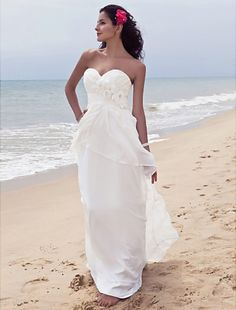 Elegant Beach Wedding Dress