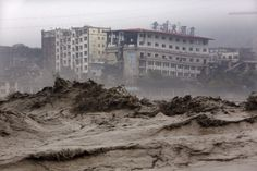 Photo: Floodwaters have affected large parts of Sichuan province. (AFP)Floods in Sichuan, China, July 2013 Posted by floodlist.com