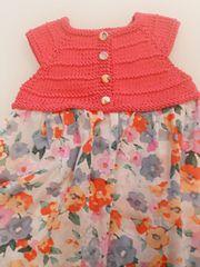 Laura dress, è un classico top per vestito estivo da bambina, disponibile ora anche nella versione con corpino in pizzo
