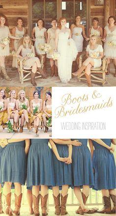 boots bridesmaids wedding inspiration