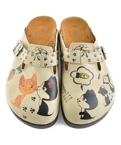 Calceo turkish shoes Loving this Tan Playful Kitty Slip-On Mule on Cat Shoes, Shoe Boots, Silly Cats, Slip On Mules, Kinds Of Shoes, Girly Things, Girly Stuff, Timeless Design, Me Too Shoes