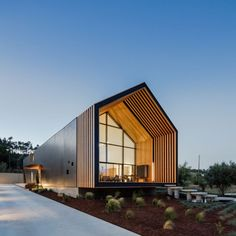 Tags: bar children, bar children kits, bar children's home, bar children's home, bar children's home … - pole barn homes Modern Barn House, Modern House Design, Steel Doors And Windows, Triangle House, Br House, Gable House, Roof Architecture, Chinese Architecture, Futuristic Architecture