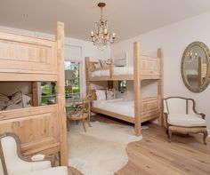 Camellia's kids room with two bunk beds located on the second floor.