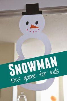 Snowman Toss Game for Kids