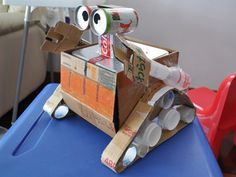 WALL.E robot made from recycled materials