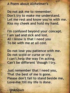A poem About Alzheimer's