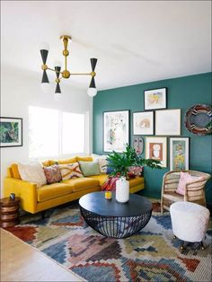 3 All Time Best Ideas: Vintage Home Decor Cottages Living Rooms vintage home decor antiques towel racks.Vintage Home Decor Ideas Rustic vintage home decor ideas rustic.Old Vintage Home Decor Shelves. Colourful Living Room, Eclectic Living Room, Home Living Room, Vintage Modern Living Room, Bright Living Rooms, Apartment Living, Living Room Yellow, Retro Living Rooms, Contemporary Living Room Designs
