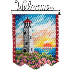Herrschners®  Spring Lighthouse Beaded Banner Kit