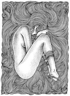 Pencil Art Drawings, Art Drawings Sketches, Black And White Drawing, Pen Art, Mandala Art, Aesthetic Art, Doodle Art, Female Art, Art Projects