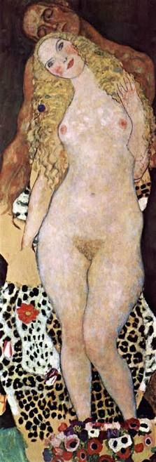 Gustav Klimt - Adam And Eve fine art preproduction . Explore our collection of Gustav Klimt fine art prints, giclees, posters and hand crafted canvas products Gustav Klimt, Art Klimt, Art Nouveau, Adam Et Eve, Oil Painting Reproductions, Art Moderne, Oeuvre D'art, Erotic Art, Sketches