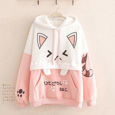 Aesthetic Hoodie, Trendy Hoodies, Pink Hoodies, Harajuku, Cute Hoodie, Kawaii Clothes, Kawaii Fashion, Cute Outfits, Casual