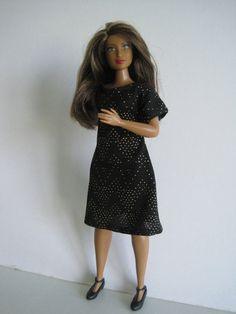 CURVY BARBIE Black Dress by glissando on Etsy
