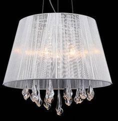 Żyrandol ABAŻUROWY klasyczna LAMPA wisząca OPRAWA kryształowa do sypialni ISLA I