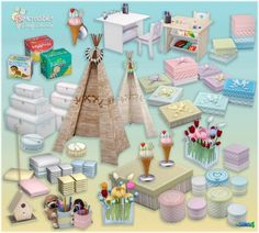 Candy Covered nursery & kids room (Free + Pay) at SIMcredible! Designs 4