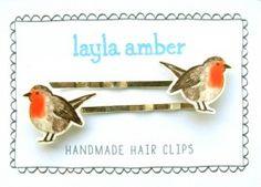 Cute little birdie hairclips bobbie pins