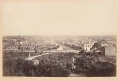 Photo taken from the Flagstaff Gardens,looking east across the city in Gardens oldest park in Melbourne, Victoria. West Melbourne, Melbourne Suburbs, Melbourne Victoria, Victoria Australia, Australian Continent, Largest Countries, Tasmania, Historical Photos, Old Photos