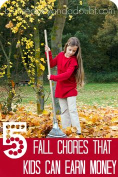 Ask any kid and they will tell you that they want to earn their own money. Check out these fall chores that your kids can do that will bless the socks off of you.