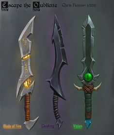 Portfolio of Christopher Hayes: Props/ Asset design Fantasy Dagger, Fantasy Sword, Fantasy Weapons, Ninja Weapons, Anime Weapons, Ashes In The Snow, Mighty Power Rangers, Arte Dark Souls, Site Art