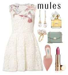 """""""Slip 'Em On: Mules"""" by nerdtastic81 ❤ liked on Polyvore featuring RED Valentino, Jennifer Lopez, Ross-Simons, Prada, Marc Jacobs and Elizabeth Arden"""