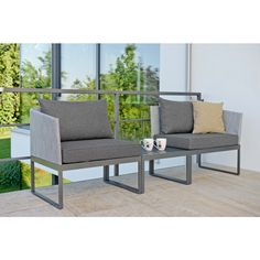 Modulares Balkonset 3 In 1: Lounge, Sofa Oder Liege