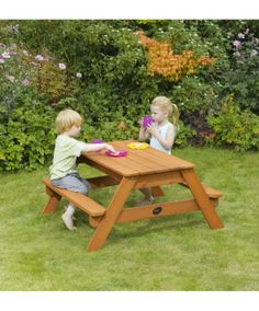 Plum Wooden Sand and Picnic Table : Plum Wooden Sand and Picnic Table : Early Learning Centre UK Toy Shop