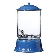 We love the blue hue of this Fiesta beverage dispenser. | $200
