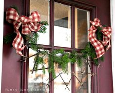 How to make this zig zag twig garland for Christmas! Click to see 4 other twig garland ideas. By Funky Junk Interiors for ebay.com / @ebay