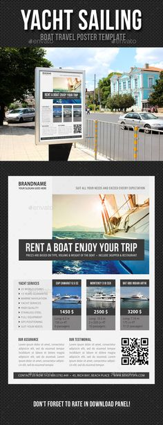 Yacht Sailing Poster Template PSD. Download here: http://graphicriver.net/item/yacht-sailing-poster-template-v04/13569612?ref=ksioks