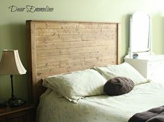 Dear Emmeline: The building of a wood bed headboard and frame {queen bed frame plans} Bed Frame Plans, Bed Frame And Headboard, Diy Bed Frame, Headboards For Beds, Headboard Ideas, Bed Frames, Bed Plans, Bedroom Ideas, Bedroom Inspiration