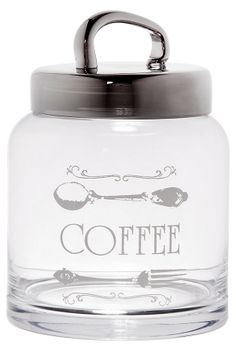 """One Kings Lane - Inspired by Julia - """"Coffee"""" Canister, 33 Oz"""