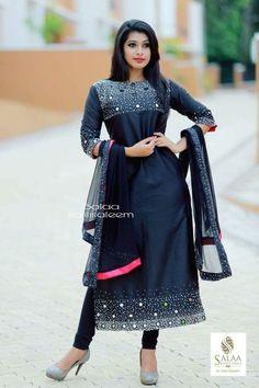 I want to buy Indian Long Frocks, Indian Dresses, Indian Outfits, Salwar Dress, Salwar Suits, Hand Embroidery Dress, Churidar Designs, Yellow Saree, Saree Look