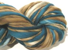 thick and thin bulky handspun yarn by SpinningWheelStudio on Etsy, $20.00