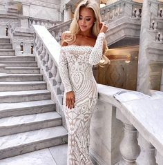 Off Shoulder Maxi White Long Dress 2019 Mesh Bodycon Sequin Dress Women Strapless Party Sexy Summer Dresses Vestido Color WHITE Size S Sexy Summer Dresses, Winter Dress Outfits, White Dresses For Women, White Maxi Dresses, Maxi Dress With Sleeves, Elegant Dresses, Dress Summer, Long Dresses, Lace Dress