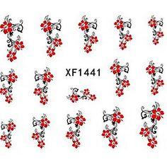 water transfer printen nagel stickers xf1441 - EUR € 1.93