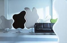Sound absorbing room screens from Glimakra