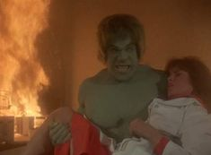 Lou Ferrigno and Jane Merrow in The Incredible Hulk The Incredible Hulk 1978, Hulk Smash, Avengers, Tv Shows, Bring It On, The Incredibles, Hero, Rust, Trucks