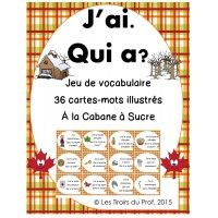 J'ai, Qui a? Jeu sur le Temps des Sucres French Teacher, Teaching French, Pre School, School Days, Craft Activities For Kids, Crafts For Kids, High School French, Learn French, Anchor Charts