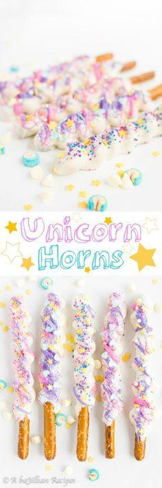 Unicorn Horns | Unicorn party food ideas