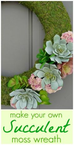 Get your front door ready for spring with this easy wreath tutorial! theblueeyeddove.com