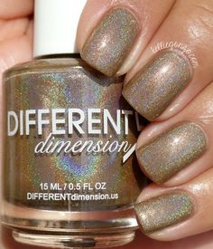 Different Dimension Fall 2015 Falling In Love Collection Swatches & Review / Love You A Latte is a soft latte brown linear holographic with added shimmers.