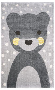 Nattiot Bärenteppich 'Otto' grau/gelb 100x150cm bei Fantasyroom online kaufen