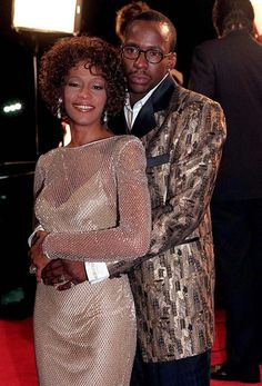 whitney houston pictures with sequin gown | Whitney Houston in 1997 at the Cinderella premier - Whitney Houston: A ...