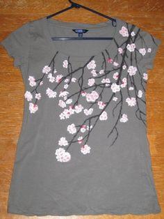 Cherry Blossom TShirt by avangeloff on Etsy - StyleSays