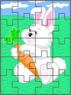 7 Infant Activities, Kindergarten Activities, Activities For Kids, Jigsaw Puzzles For Kids, Puzzle Games For Kids, Colegio Ideas, File Folder Activities, English Games, Learning Time