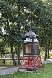 Fiskarsin Ruukki | by visitsouthcoastfinland #visitsouthcoastfinland #Finland #Fiskars #Raasepori #phonebooth Finland, Gazebo, Coast, Outdoor Structures, City, Design, Kiosk, Pavilion