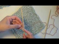 (3) Video #96 How to knit - a dishcloth - YouTube