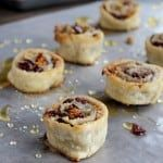Cranberry and Walnut Pinwheels | www.diethood.com | #cranberries #dessert #nuts #recipe #pinwheels #superbowl