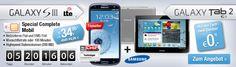 Galaxy S3 + Galaxy Tab 2 ohne Anzahlung für 34,95 € im Monat http://www.simdealz.de/telekom/galaxy-s3-galaxy-tab-2-deal/