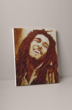 Large Canvas Prints, D1, Bob Marley, Portrait, Store, Natural, Artist, Painting, Headshot Photography