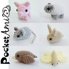 PocketAmi Sets 1 & 2 amigurumi crochet patterns